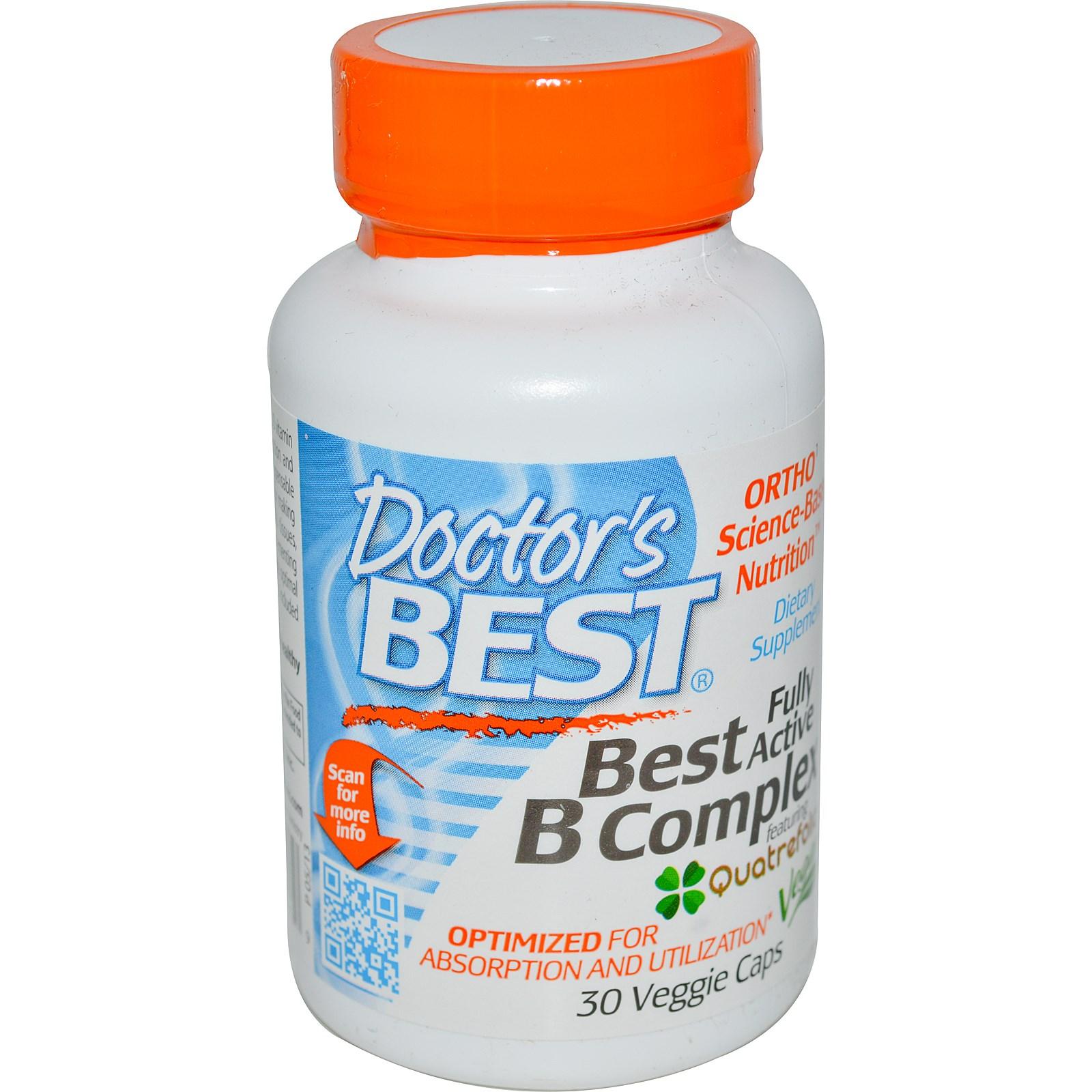 Активный комплекс витамина B, Doctor's Best, в капсулах (30 штук)