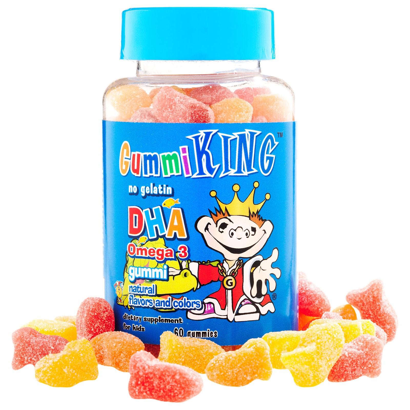 Омега-3 в виде конфет для детей от Gummi King (60 штук)