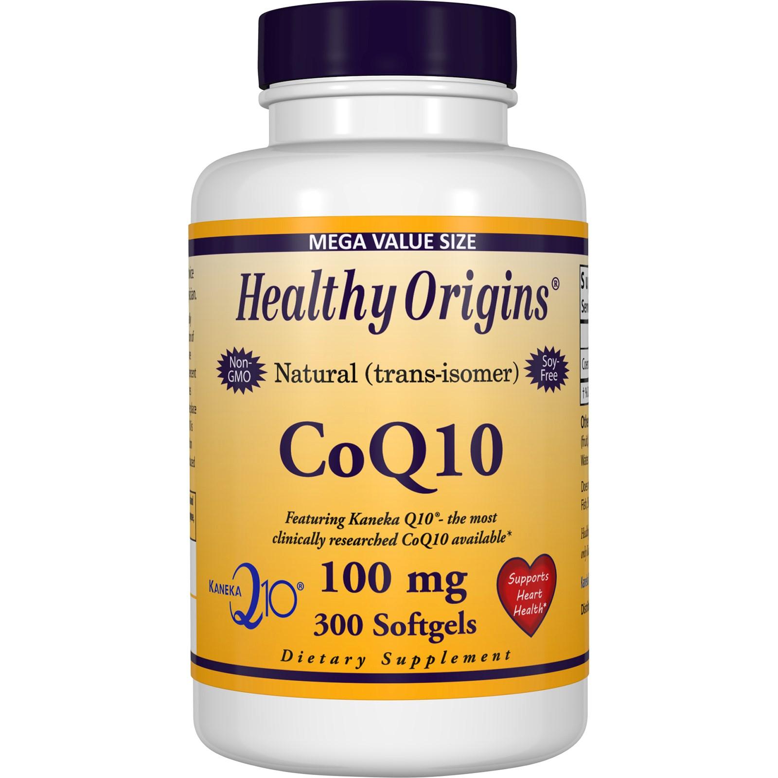 Коэнзим Q10 в гелевых капсул Healthy Origins