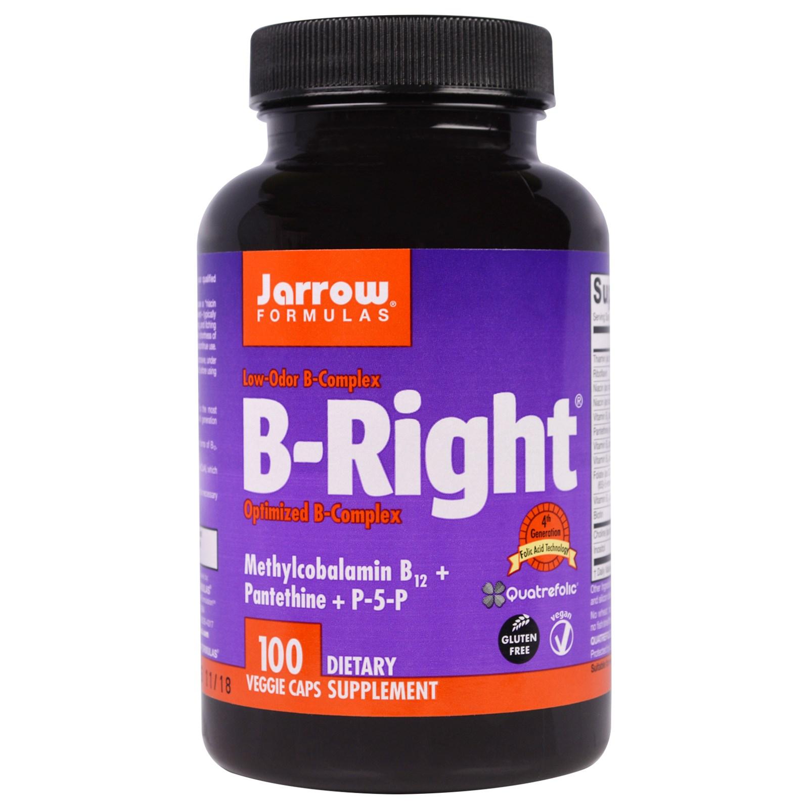 Комплекс B-Right в капсулах, Jarrow Formulas (100 штук)