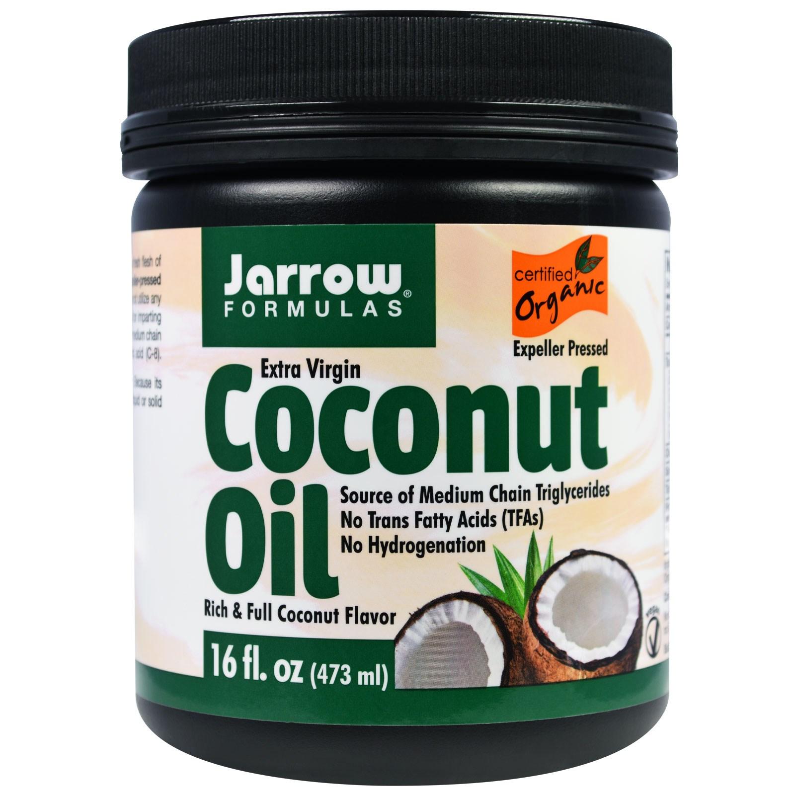 Органическое кокосовое масло Extra Virgin, Jarrow Formulas (473 г)
