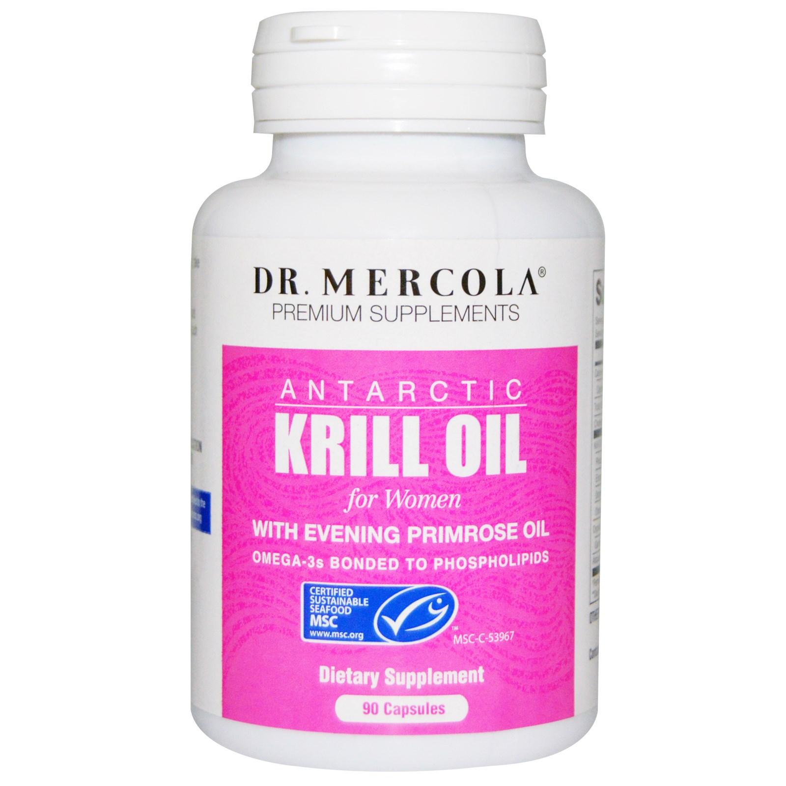 Dr. Mercola, масло криля для женщин в капсулах (90 штук)