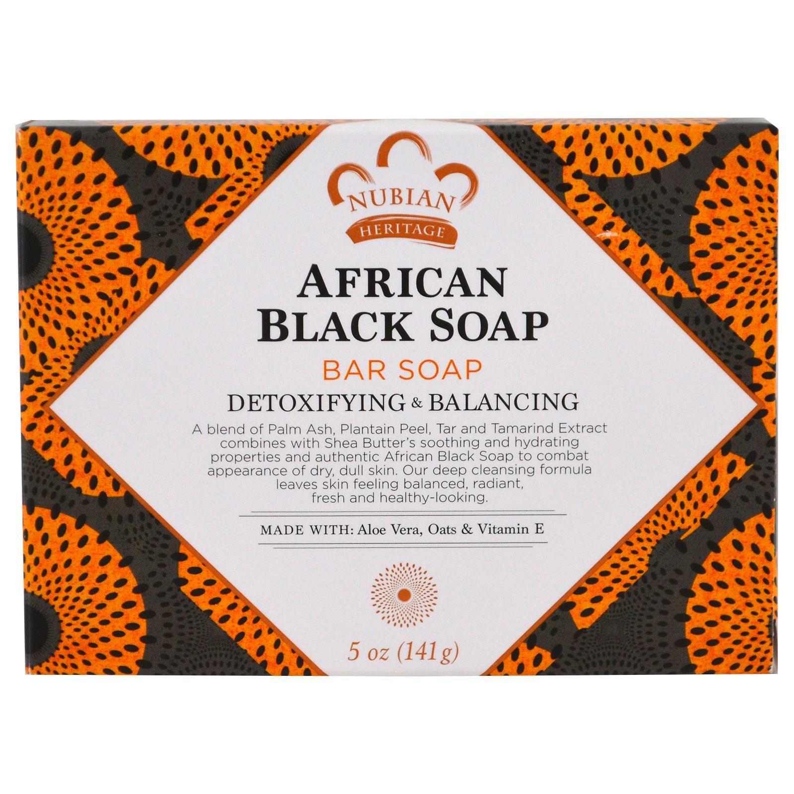 африканского черного мыла от Nubian Heritage