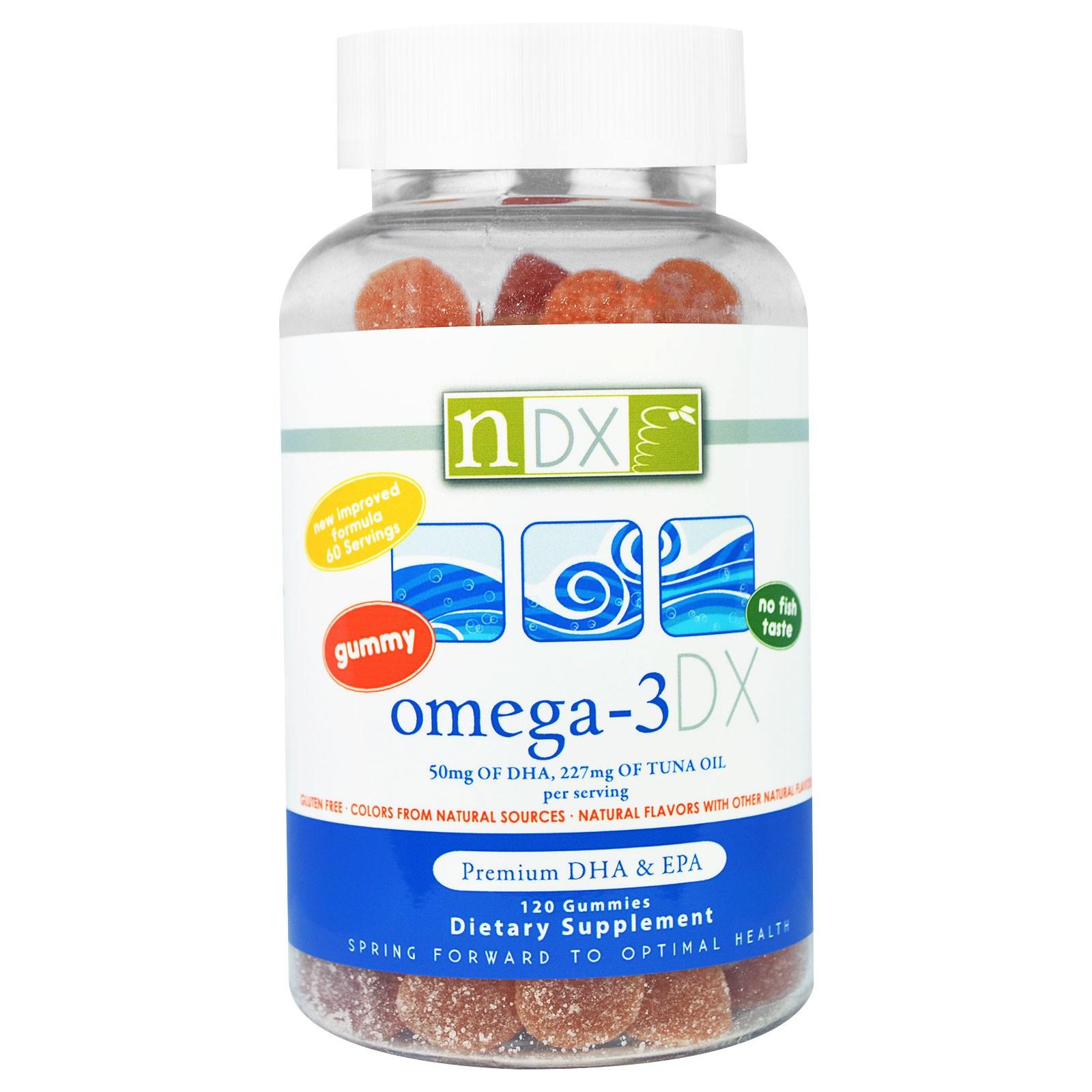 Natural Dynamix, Омега-3 DX (120 желатиновых мишек)