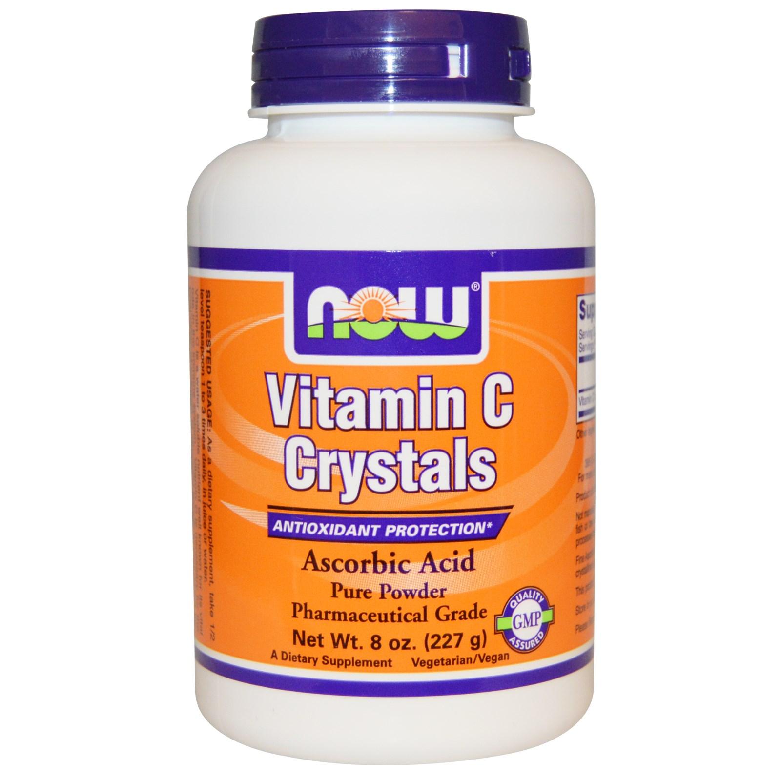 Витамин C в кристаллах, Now Foods (227 г)