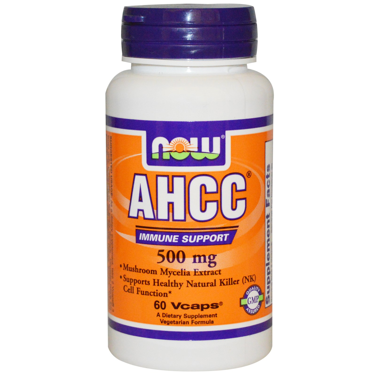 AHCC Поддержание иммунитета в капсулах, Now Foods (60 штук)