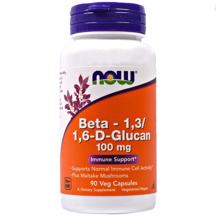 Бета-1,3/1,6-D-Глюкан в капсулах, Now Foods (90 штук)