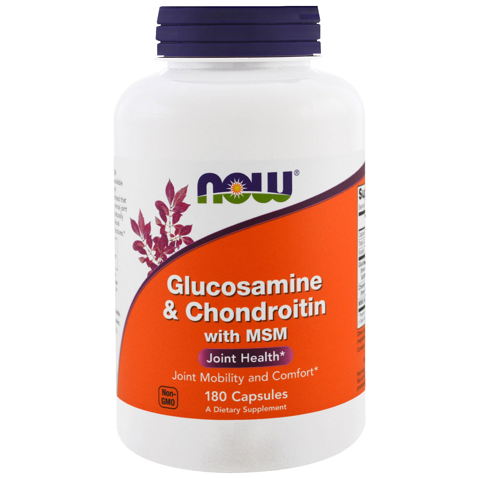 Now Foods, Глюкозамин и хондроитин с MSM в капсулах (180 штук)