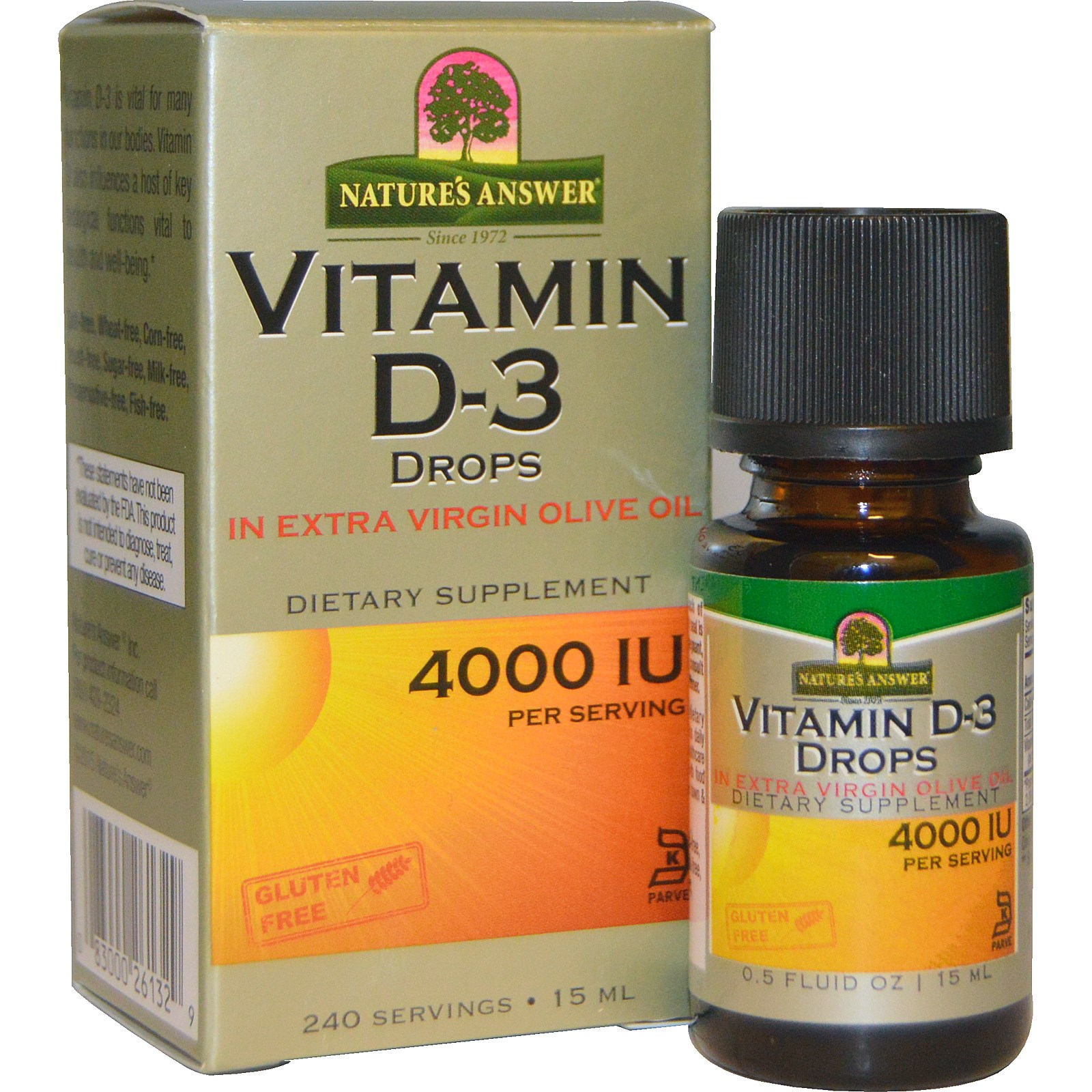Витамин D3 в каплях (15 мл) от Nature's Answer