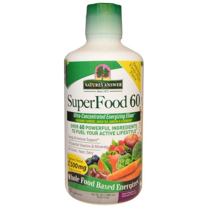 Натуральный эликсир SuperFood 60, Nature's Answer (900 мл)