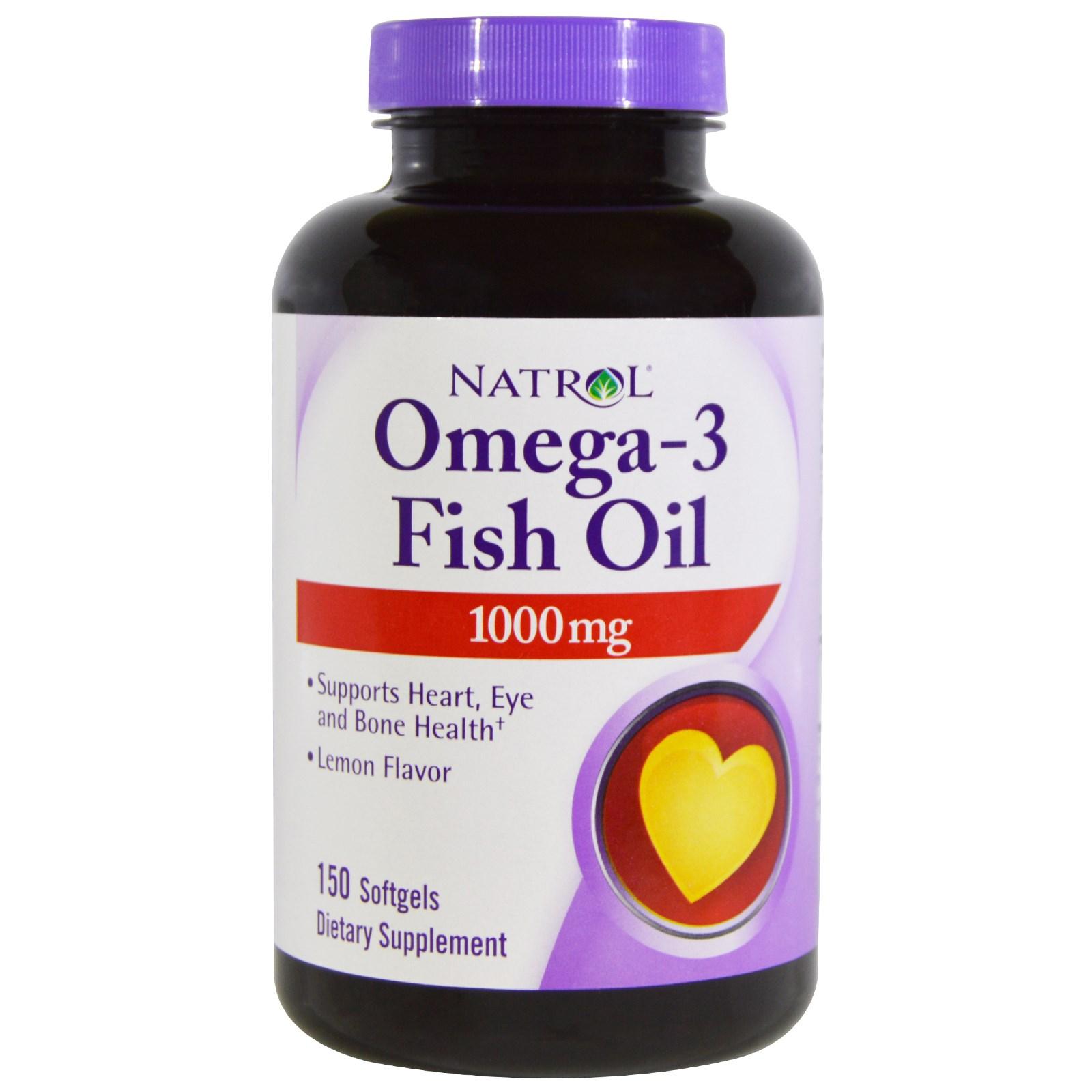 Омега-3 рыбий жир в желатиновых капсулах от Natrol (150 штук)