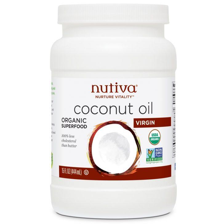 Кокосовое масло холодного отжима Nurture Vitality, Nutiva (444 мл)
