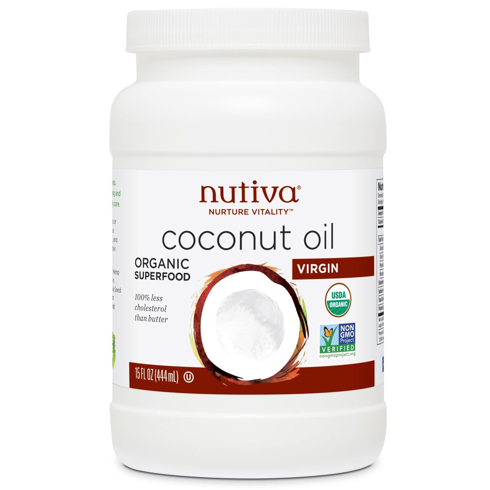 кокосовое масло холодной отжима Nurture Vitality, Nutiva (444 мл)