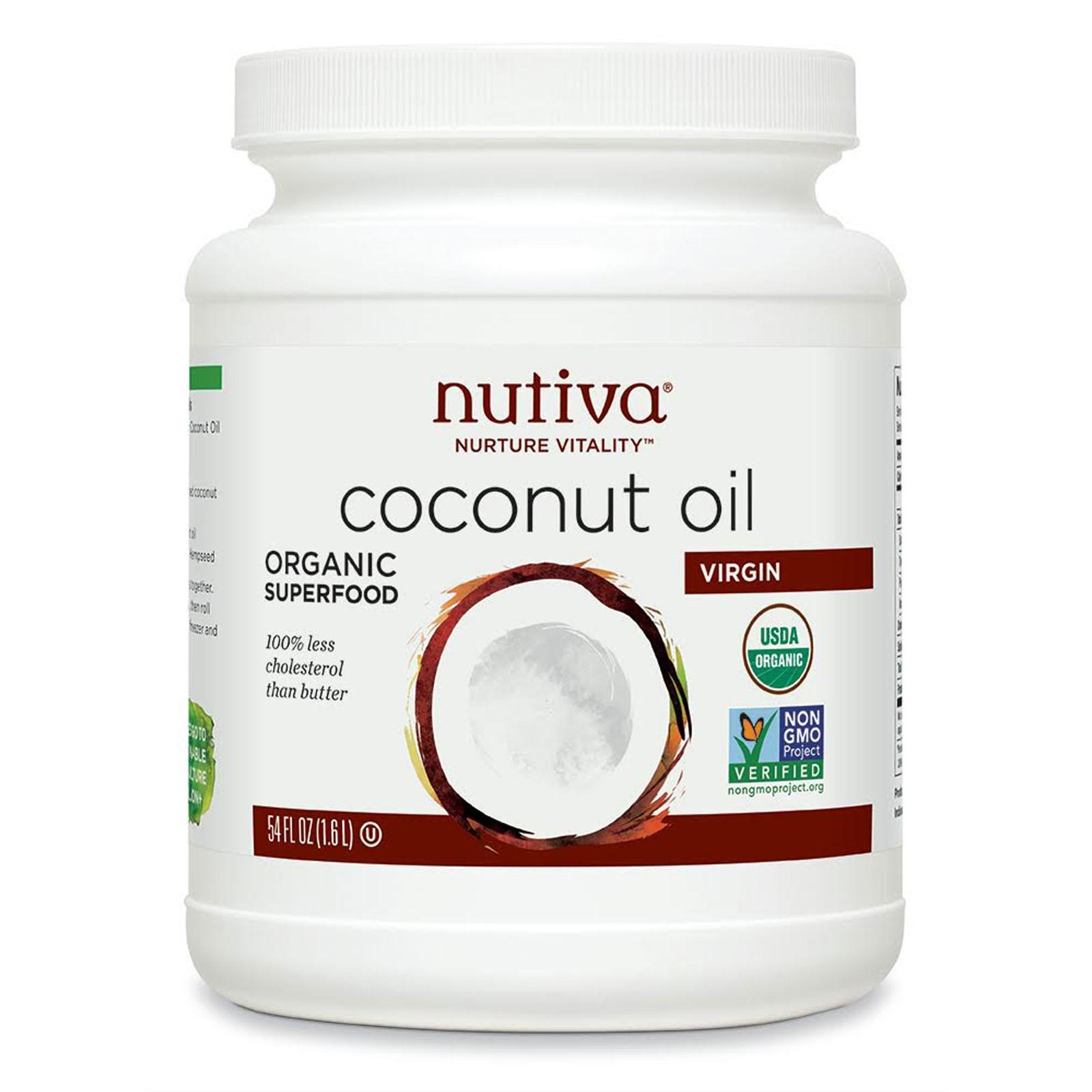 органическое кокосовое масло первого отжима Nutiva (1,6 л)