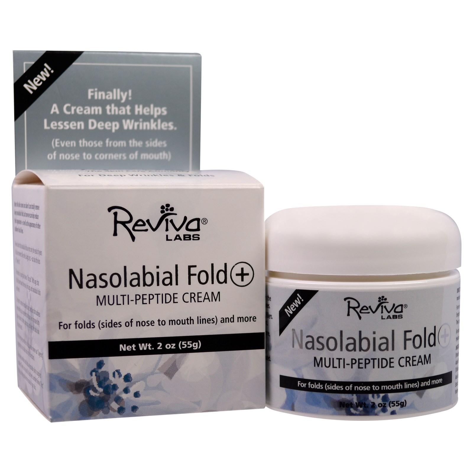 Крем с мультипептидами Nasolabial Fold+, Reviva Labs (55 г)