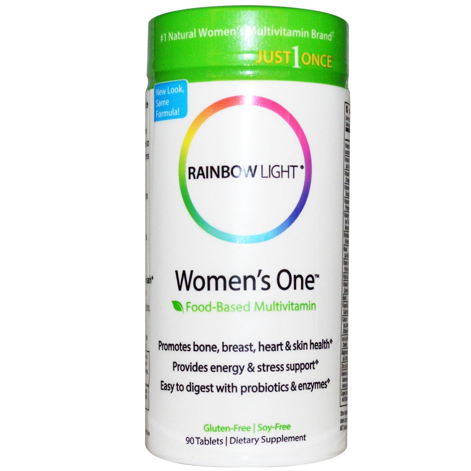 Пищевой мультивитамин для женщин Just Once, Rainbow Light, в таблетках (90 штук)