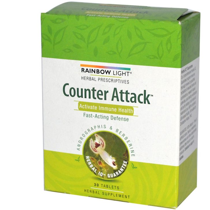Комплекс для активации иммунитета Counter Attack в таблетках, Rainbow Light (30 штук)