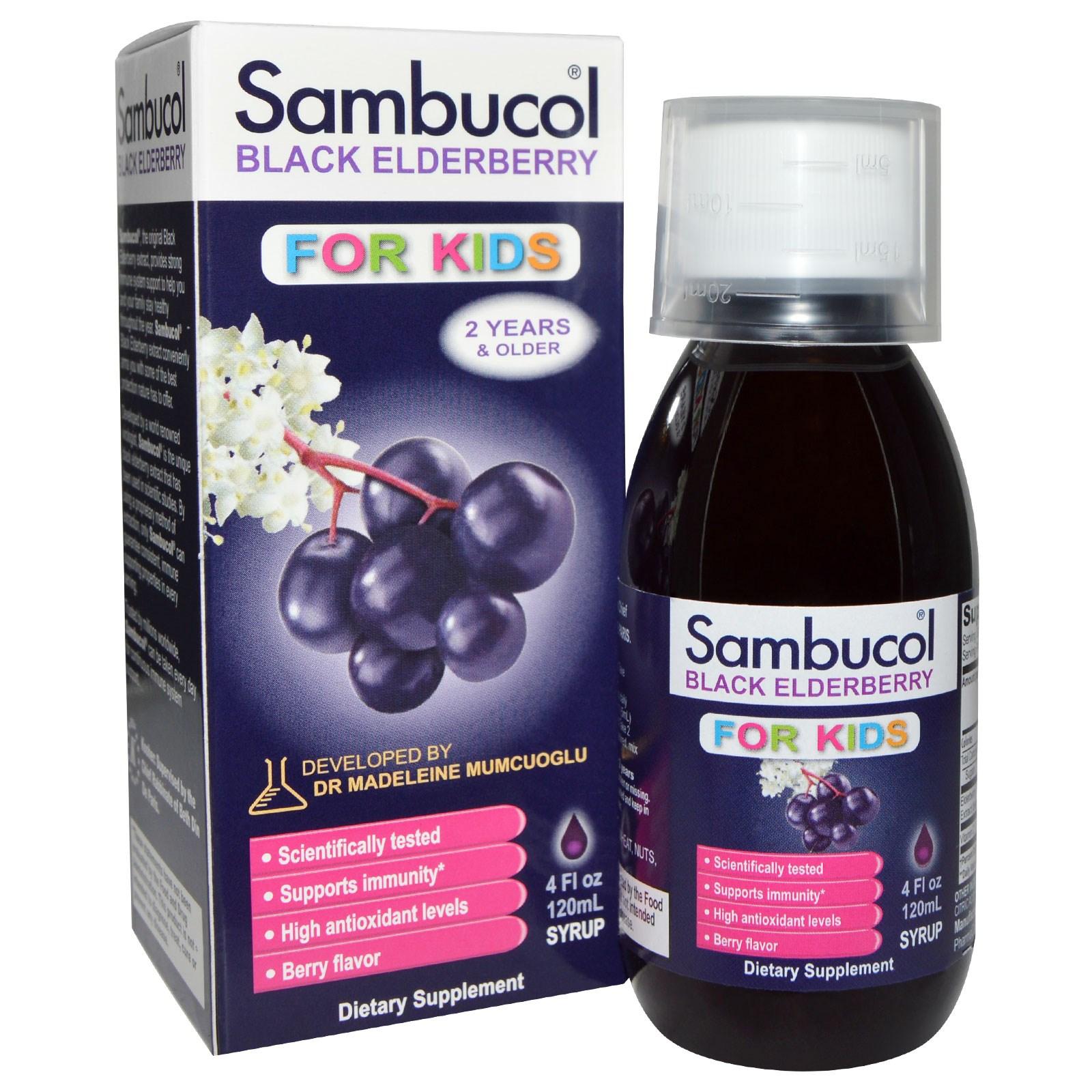 Чёрная бузина для детей, Sambucol (120 мл)