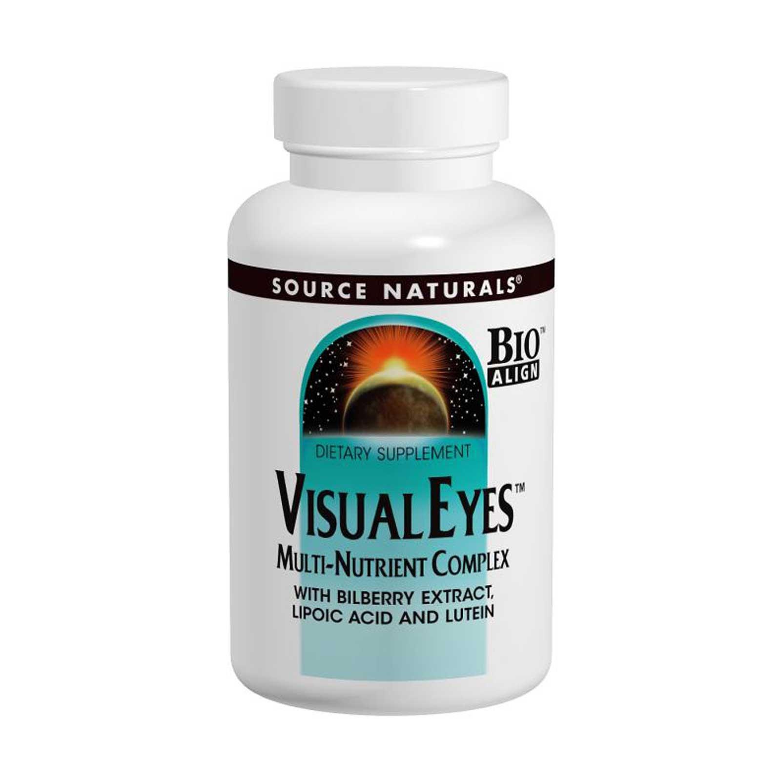 Мульти-питательный комплекс Visual Eyes в таблетках от Source Naturals.