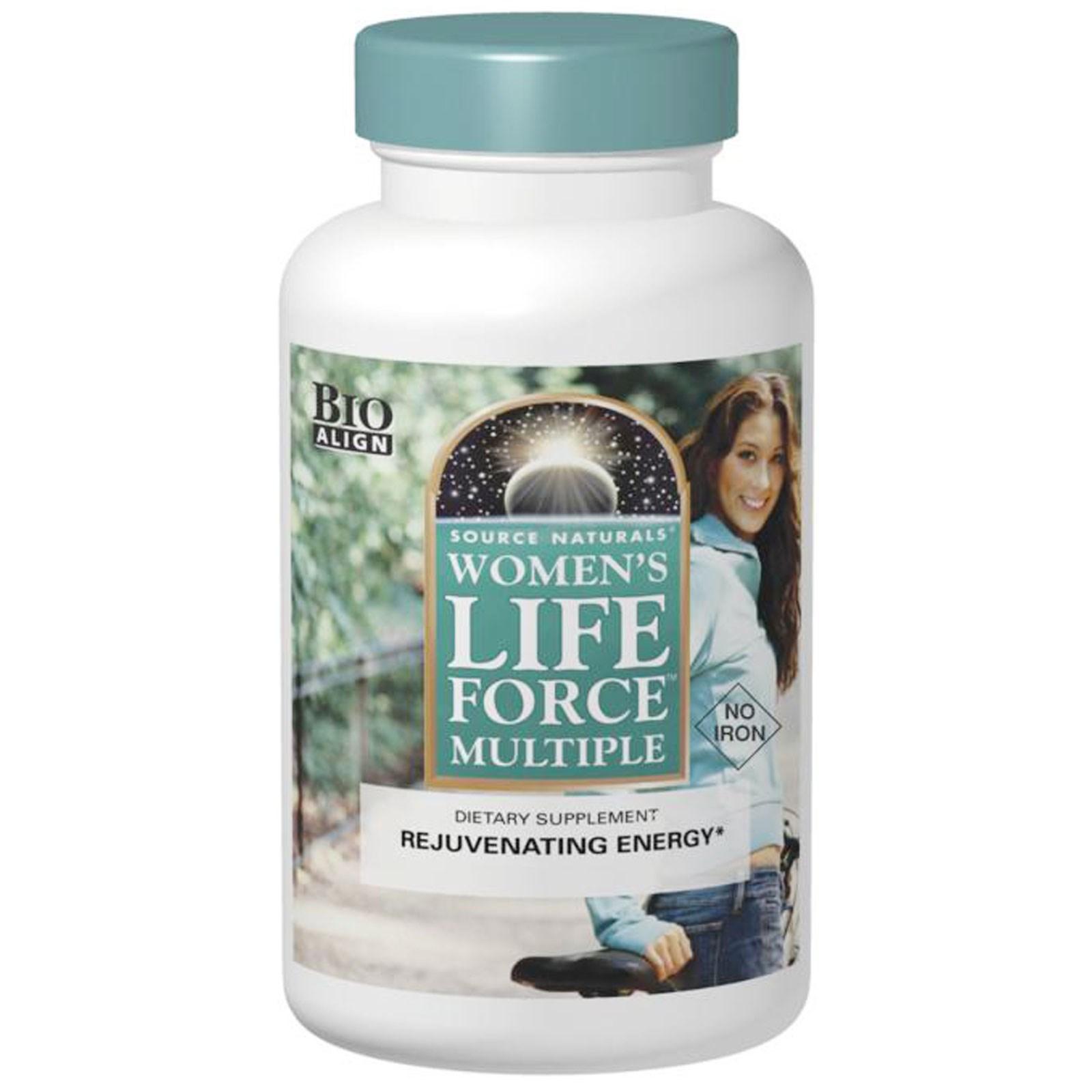 Source Naturals, Жизненная сила для женщин, без железа, 90 таблеток