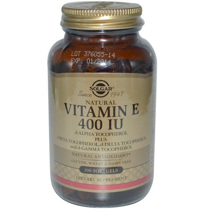 Витамин Е Solgar в капсулах (100 штук)
