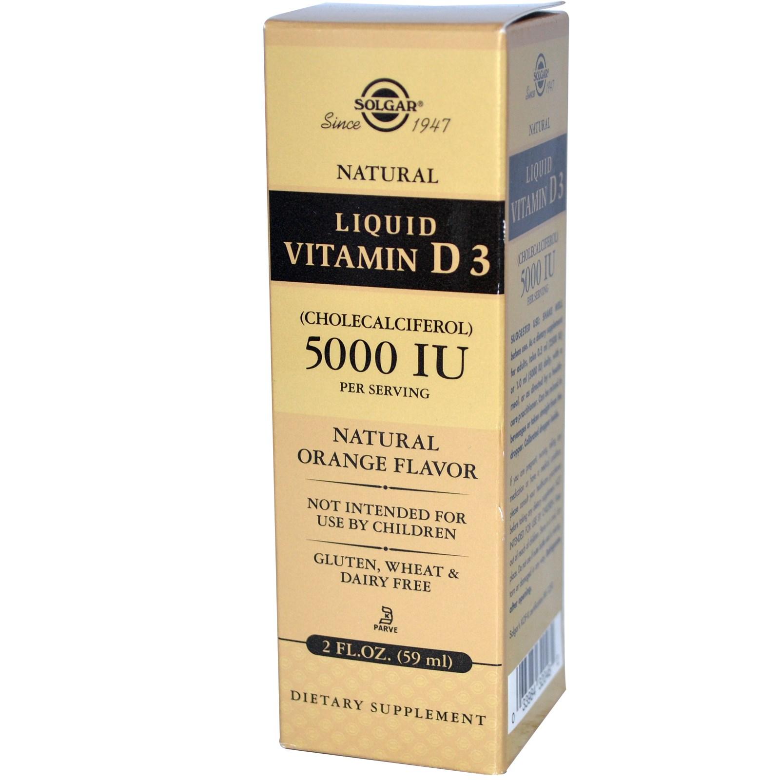 Жидкий витамин D3 (59 мл) от Solgar