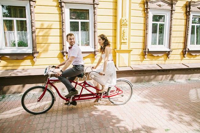 Фото прогулки на парном велосипеде
