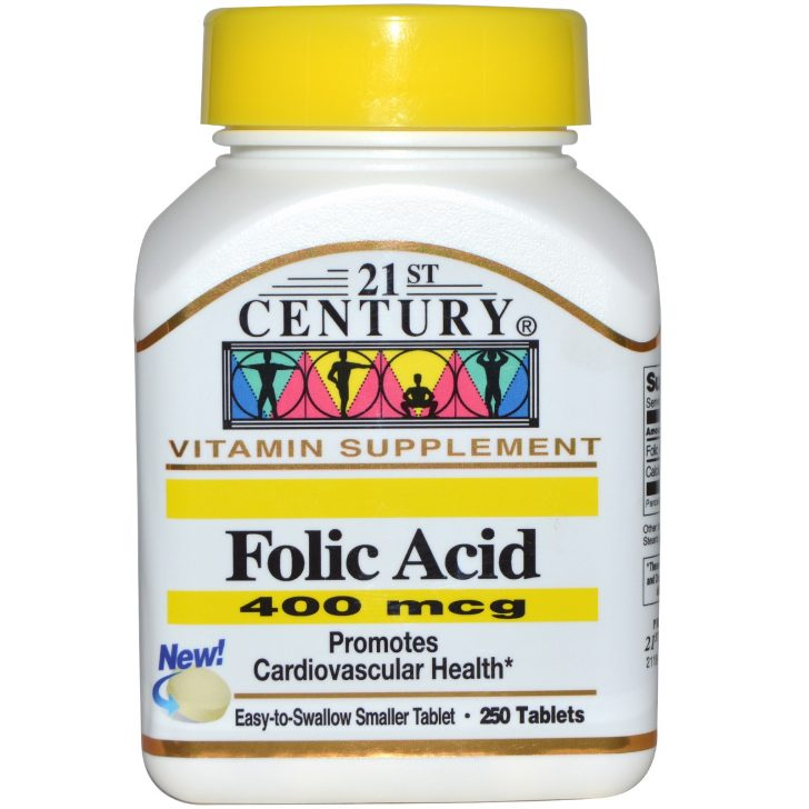 21st Century, Фолиевая кислота (400 мкг, 250 таблеток)
