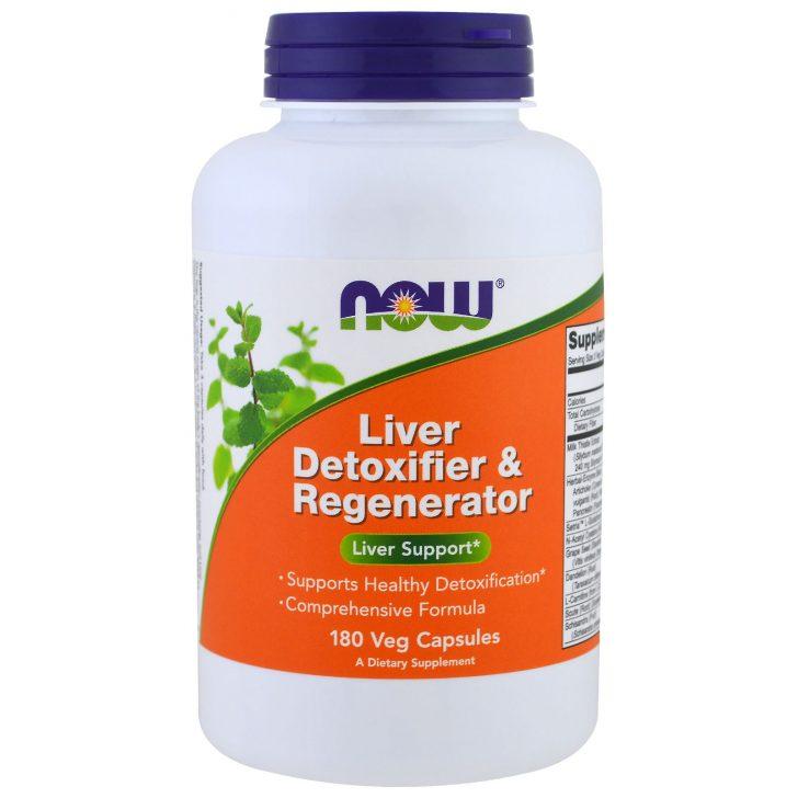 Now Foods, Детоксикатор и регенератор печени (180 вегетарианских капсул)