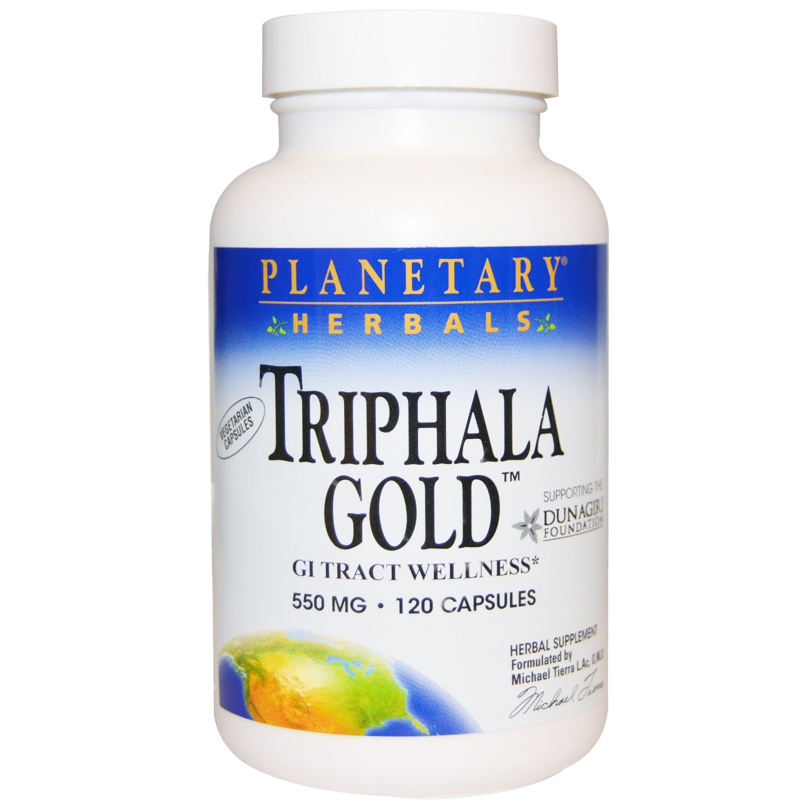 Трифала Голд, здоровье желудочно-кишечного тракта, 550 мг, 120 капсул от Planetary Herbals на сайте iHerb