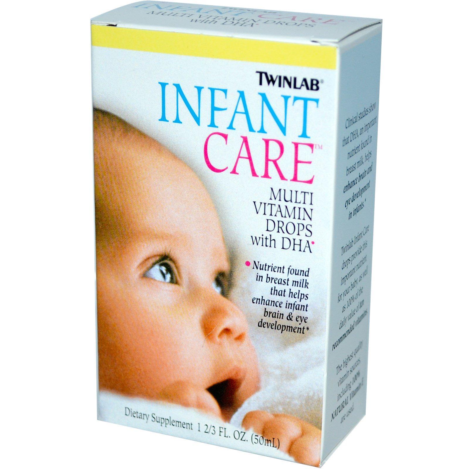 Twinlab, Уход за детьми, Мультивитаминные капли с докозагексаеновой кислотой