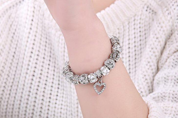ELESHE-Fashion-Silver-Heart-Charms-Bracelet-Bangle-for-Women-DIY-925-Crystal-Beads-Fit-Original-Bracelets