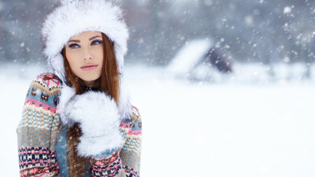 Зимой лицо подвержено негативному влиянию