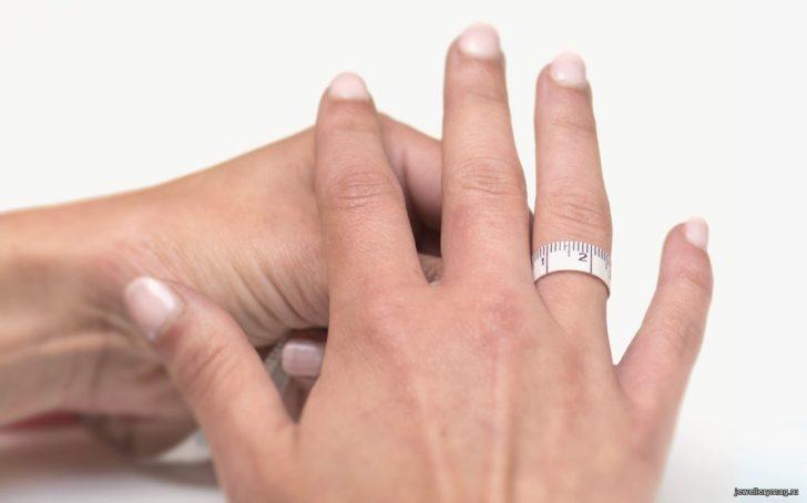 ак подобрать размер кольца по диаметру пальца