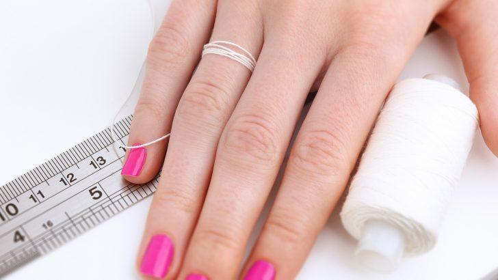 Как выбрать размер кольца с помощью нитки