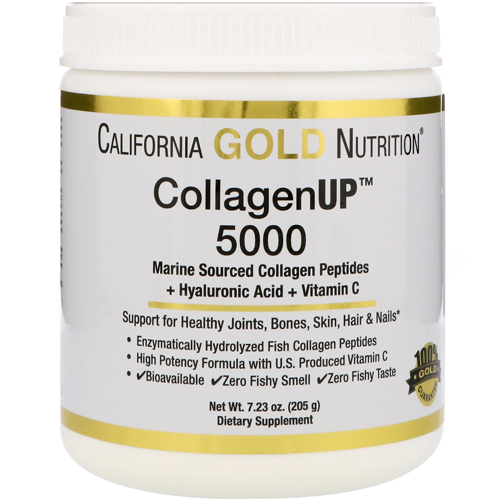 California Gold Nutrition, CollagenUP™ 5000, Marine Sourced Collagen Peptides + Hyaluronic Acid + Vitamin C