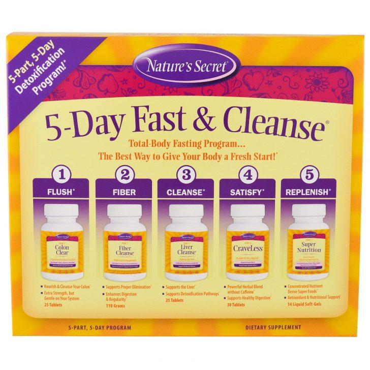 Nature's Secret, 5-Day Fast & Cleanse, 5-дневная программа лечебного голодания и очищения организма, 5 частей