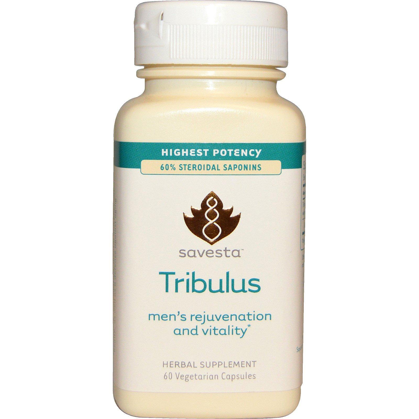 Savesta, Tribulus, омоложение и жизненная сила для мужчин, 60 вегетарианских капсул