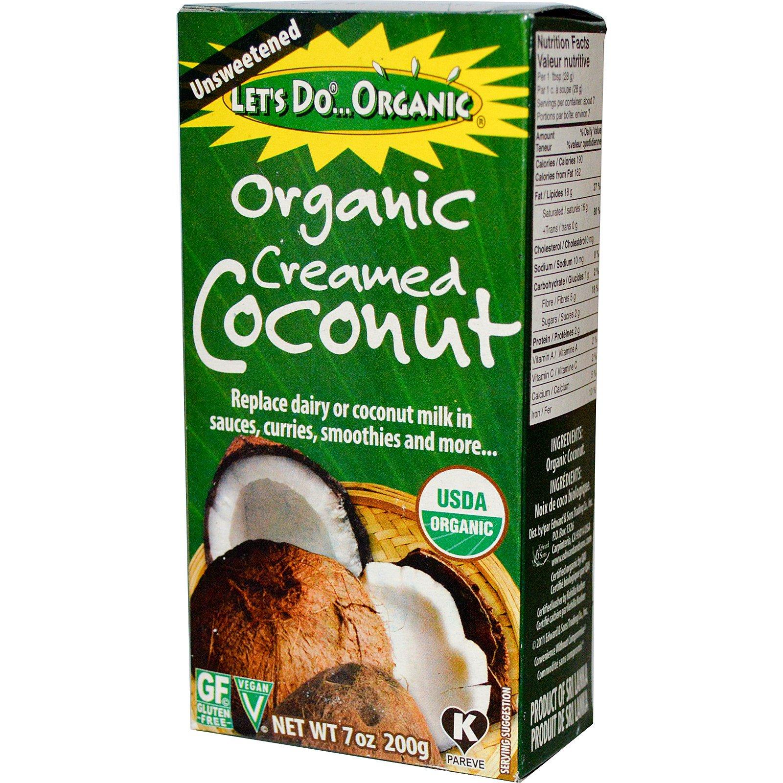 Edward & Sons, Органические кокосовые сливки, неподслащенные, 200 г (7 унций)