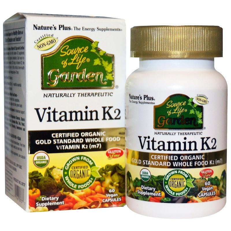 Nature's Plus, Витамин K2 (М7), 60 капсул