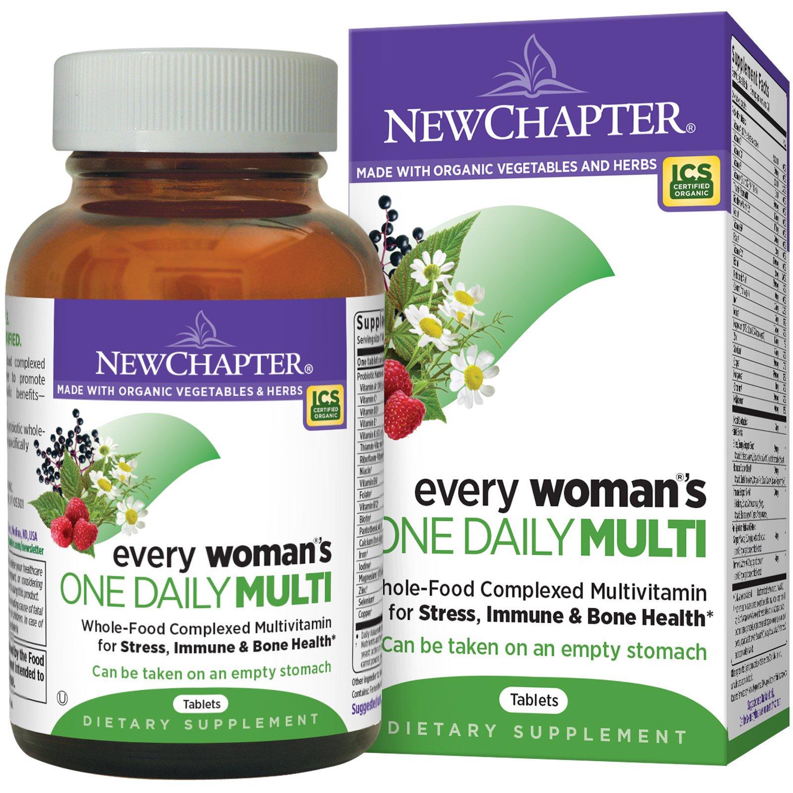 New Chapter, Мультивитамины для женщин для ежедневного применения, 72 таблетки