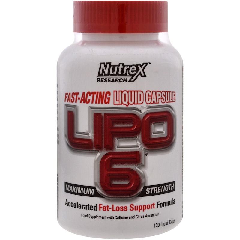 Nutrex Research Labs, Lipo 6 Maximum Strength , 120 Liqui-Caps