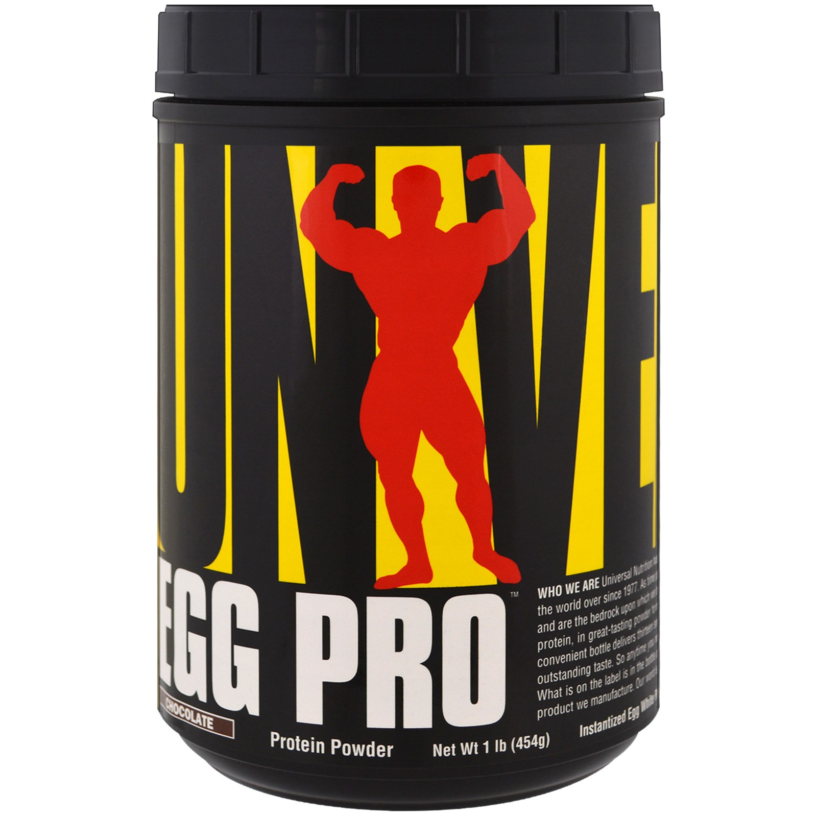 Universal Nutrition, Egg Pro, Instantized Egg White Powder, Chocolate , 1 lb (454 g)