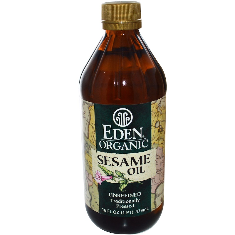 den Foods, Organic Sesame Oil, Unrefined, 16 fl oz (473 ml)
