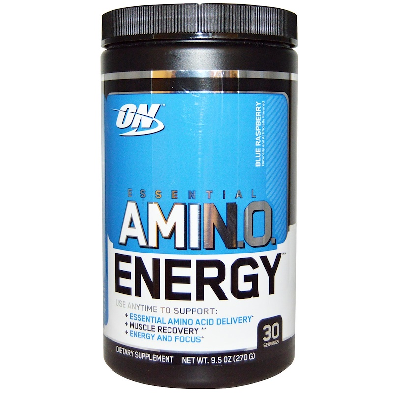 Optimum Nutrition, Essential Amino Energy, Blue Raspberry, 9.5 oz (270 g)