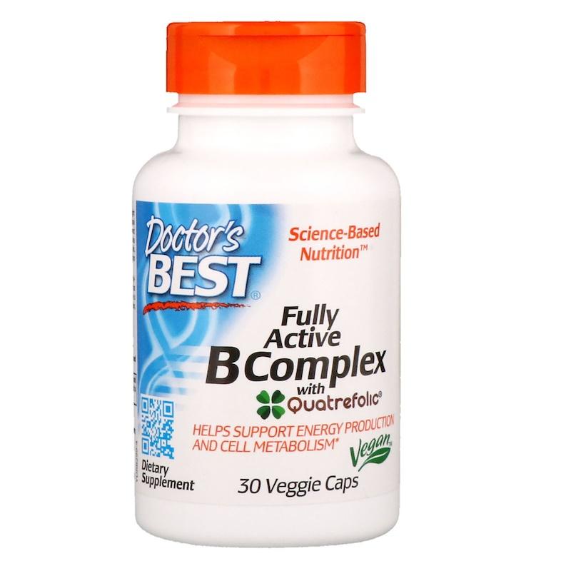 Doctor's Best, Fully Active B Complex, 30 Veggie Caps