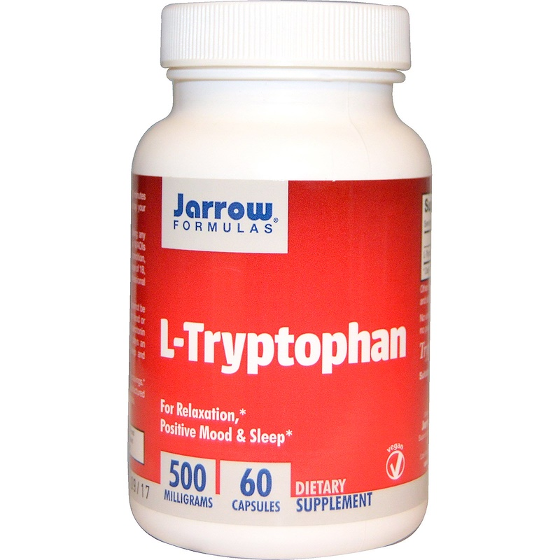 Jarrow Formulas, L-триптофан, 500 мг, 60 капсул