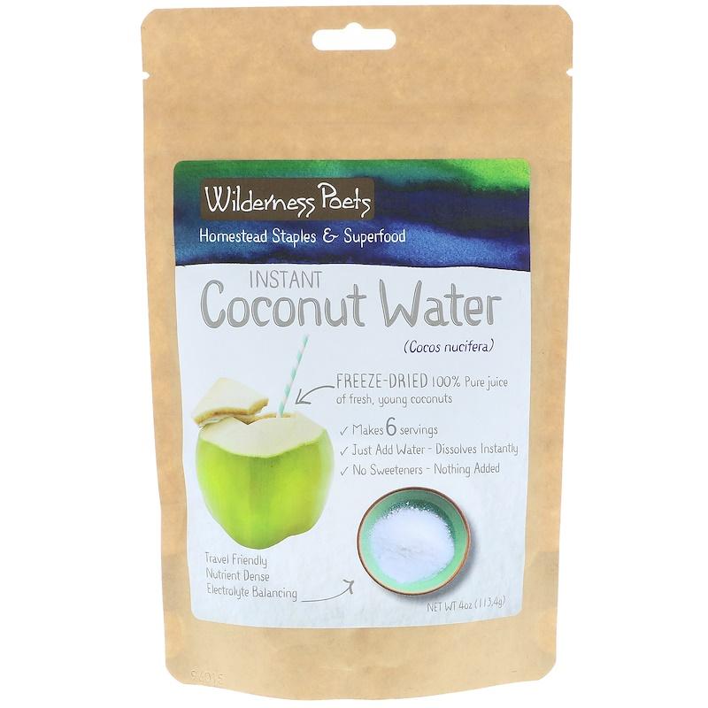 Wilderness Poets, Instant Coconut Water Powder, Freeze Dried, 4 oz (113.4 g)