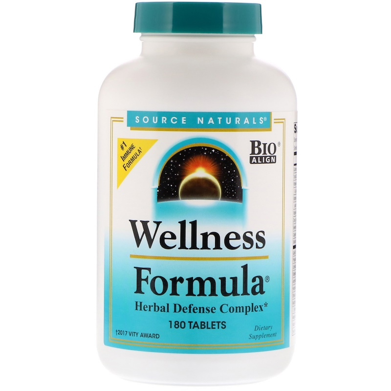 Source Naturals, Wellness Formula, Herbal Defense Complex, 180 Tablets