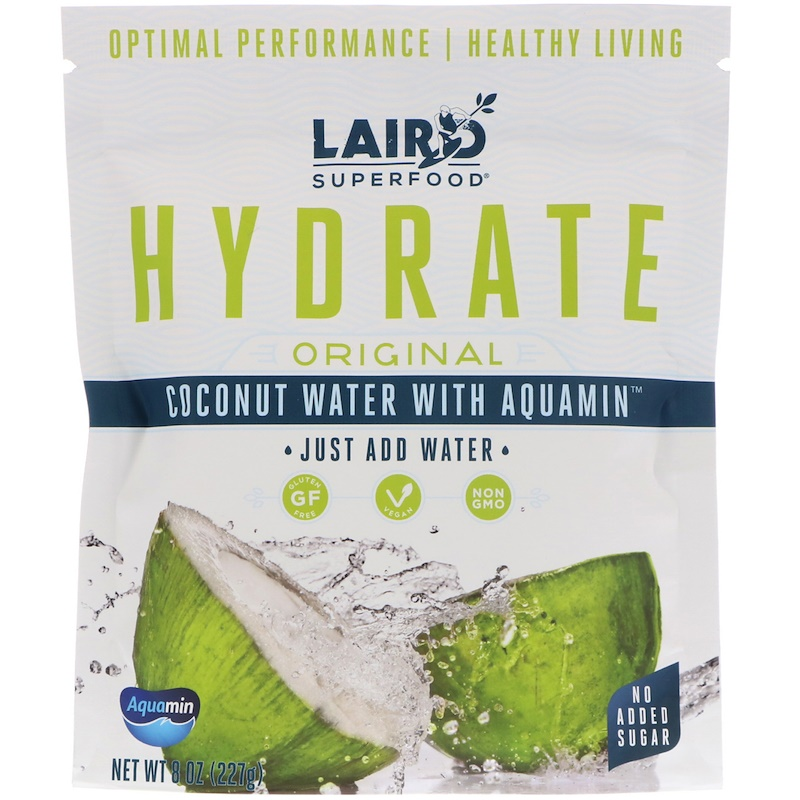 Laird Superfood, Hydrate, Original, Coconut Water with Aquamin, 8 oz (227 g)